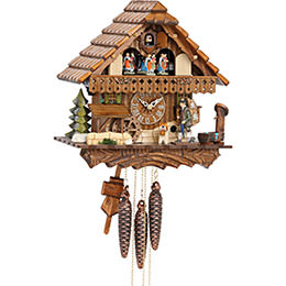 Cuckoo Clock 1-day-movement Chalet-Style 30cm by Hekas
