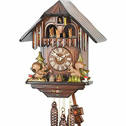Cuckoo Clock 1-day-movement Chalet-Style 30cm by Hubert Herr