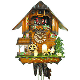 Cuckoo Clock 1-day-movement Chalet-Style 31cm by August Schwer