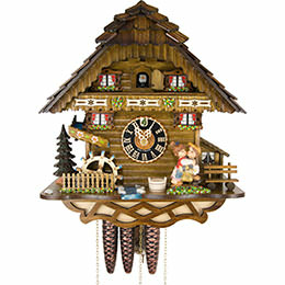 Cuckoo Clock 1-day-movement Chalet-Style 32cm by Hönes