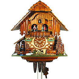 Cuckoo Clock 1-day-movement Chalet-Style 33cm by August Schwer