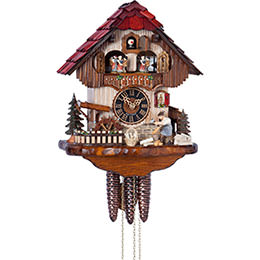 Cuckoo Clock 1-day-movement Chalet-Style 33cm by Hönes