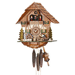 Cuckoo Clock 1-day-movement Chalet-Style 33cm by Hekas