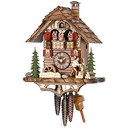 Cuckoo Clock 1-day-movement Chalet-Style 38cm by Hekas