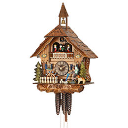 Cuckoo Clock 1-day-movement Chalet-Style 40cm by Hekas
