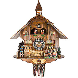 Cuckoo Clock 1-day-movement Chalet-Style 42cm by Hönes
