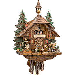 Cuckoo Clock 1-day-movement Chalet-Style 63cm by Hekas