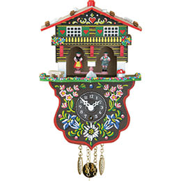Cuckoo Clock 1-day-spring-movement Black Forest Pendulum Clock-Style 19cm by Trenkle Uhren