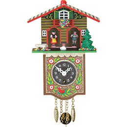 Cuckoo Clock 1-day-spring movement-movement Black Forest Pendulum Clock-Style 17cm by Trenkle Uhren