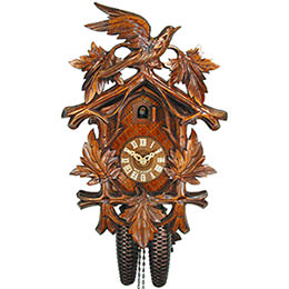 Cuckoo Clock 8-day-movement Carved-Style 38cm by August Schwer