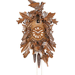 Cuckoo Clock 8-day-movement Carved-Style 43cm by Hekas
