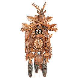 Cuckoo Clock 8-day-movement Carved-Style 59cm by Anton Schneider