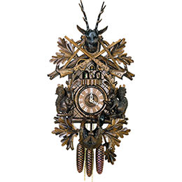 Cuckoo Clock 8-day-movement Carved-Style 59cm by Hubert Herr