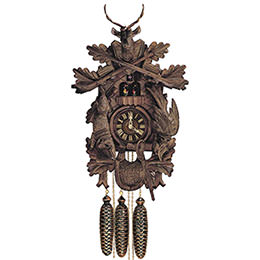 Cuckoo Clock 8-day-movement Carved-Style 60cm by Anton Schneider