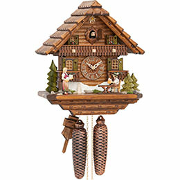 Cuckoo Clock 8-day-movement Chalet-Style 0cm by Hekas