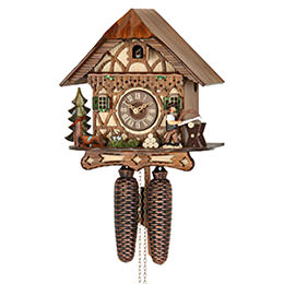 Cuckoo Clock 8-day-movement Chalet-Style 28cm by Hekas