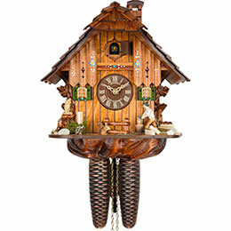 Cuckoo Clock 8-day-movement Chalet-Style 30cm by Anton Schneider