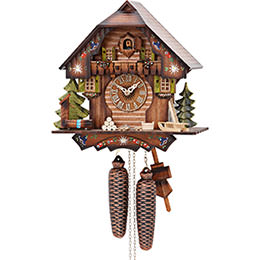 Cuckoo Clock 8-day-movement Chalet-Style 30cm by Hekas
