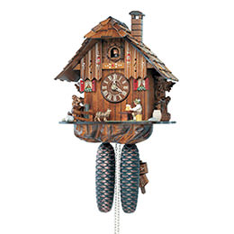 Cuckoo Clock 8-day-movement Chalet-Style 31cm by Anton Schneider