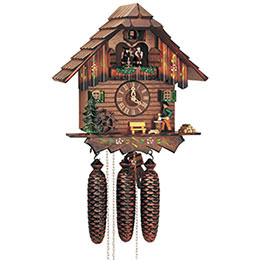 Cuckoo Clock 8-day-movement Chalet-Style 32cm by Anton Schneider