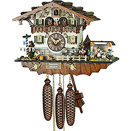 Cuckoo Clock 8-day-movement Chalet-Style 32cm by Hubert Herr