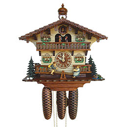 Cuckoo Clock 8-day-movement Chalet-Style 33cm by Anton Schneider