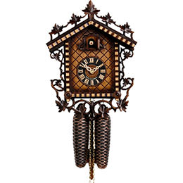 Cuckoo Clock 8-day-movement Chalet-Style 33cm by Hönes