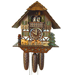 Cuckoo Clock 8-day-movement Chalet-Style 34cm by Anton Schneider