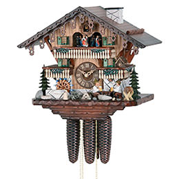 Cuckoo Clock 8-day-movement Chalet-Style 34cm by Hekas