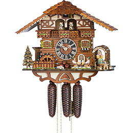 Cuckoo Clock 8-day-movement Chalet-Style 36cm by Hönes