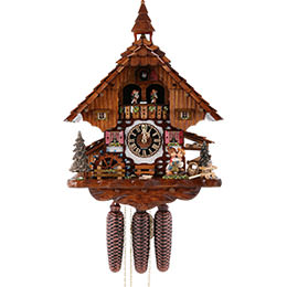 Cuckoo Clock 8-day-movement Chalet-Style 40cm by H�nes Uhren
