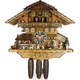 Cuckoo Clock 8-day-movement Chalet-Style 41cm by Hönes