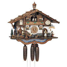 Cuckoo Clock 8-day-movement Chalet-Style 44cm by Anton Schneider