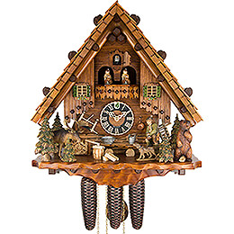 Cuckoo Clock 8-day-movement Chalet-Style 44cm by Hönes