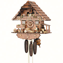 Cuckoo Clock 8-day-movement Chalet-Style 44cm by Hekas
