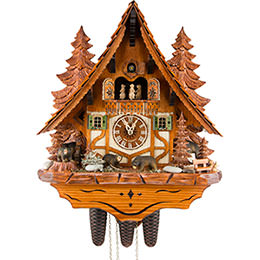 Cuckoo Clock 8-day-movement Chalet-Style 45cm by Anton Schneider