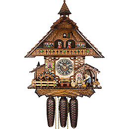 Cuckoo Clock 8-day-movement Chalet-Style 47cm by Hönes