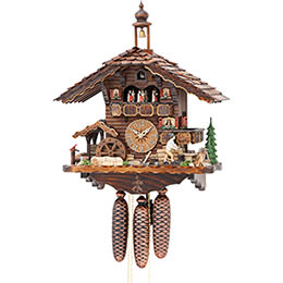 Cuckoo Clock 8-day-movement Chalet-Style 50cm by Hekas