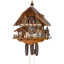 Cuckoo Clock 8-day-movement Chalet-Style 57cm by Hönes