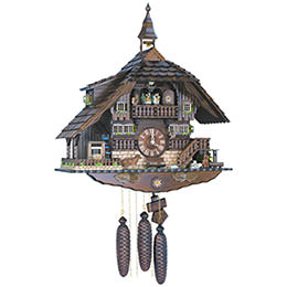 Cuckoo Clock 8-day-movement Chalet-Style 58cm by Anton Schneider