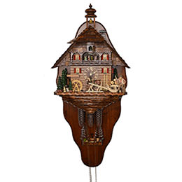 Cuckoo Clock 8-day-movement Chalet-Style 68cm by August Schwer
