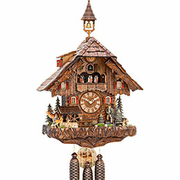 Cuckoo Clock 8-day-movement Chalet-Style 68cm by Hekas