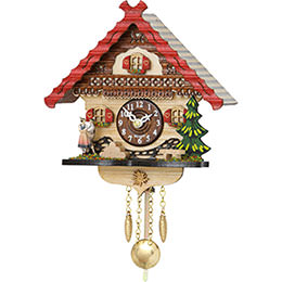 Cuckoo Clock Kuckulino Quartz-movement Black Forest Pendulum Clock-Style 17cm by Trenkle Uhren