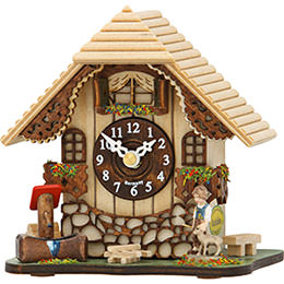 Cuckoo Clock Kuckulino Quartz-movement Chalet-Style 13cm by Trenkle Uhren