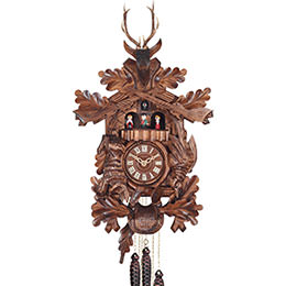 Cuckoo Clock Quartz-movement Carved-Style 37cm by Engstler