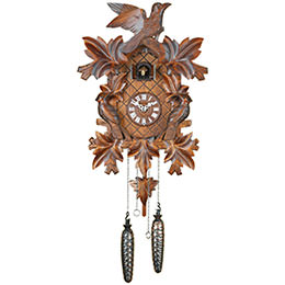 Cuckoo Clock Quartz-movement Carved-Style 40cm by Trenkle Uhren
