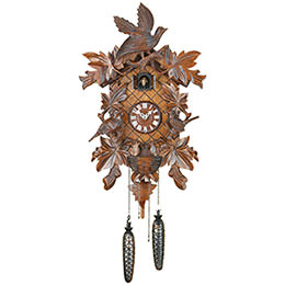 Cuckoo Clock Quartz-movement Carved-Style 45cm by Trenkle Uhren