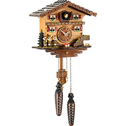 Cuckoo Clock Quartz-movement Chalet-Style 19cm by Trenkle Uhren