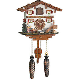 Cuckoo Clock Quartz-movement Chalet-Style 21cm by Trenkle Uhren