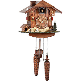Cuckoo Clock Quartz-movement Chalet-Style 22cm by Trenkle Uhren